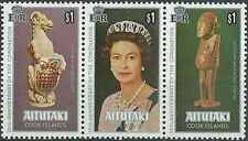 Timbres Arts Famille royale Aitutaki 227/9 ** lot 19609
