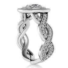 Double Halo Infinity 1.90 Carat F SI1 Cushion Diamond Engagement Ring White Gold