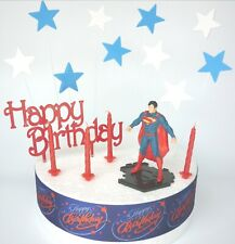 SUPERMAN Cake Decoration Set  - Cake Topper Figure Decoration Birthday
