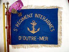 FANION AUTHENTIQUE 5° RIAOM 4° ESCADRON DJIBOUTI REGIMENT INTERARMES OUTRE MER