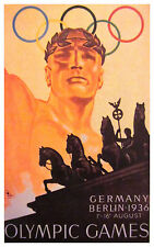 1936 Berlin Summer Olympics Ad Poster - 6.5 x 10 Photo