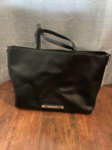 "Betsey Johnson 14"" Black Tote Handbag Purse"