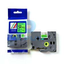 2PK Black on Fluorescent Green Tapes TZ-D31 TZe-D31 Compatible for P-touch 12mm