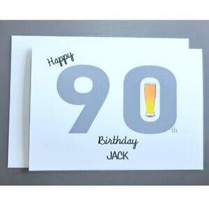 Personalised 90th Birthday Card Male - 90 Years Old - Dad Husband Father Grandad