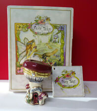 Clayworks Mushroom House Fairy Tales By Heather Goldminc Hinged Box Figurine