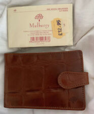 MULBERRY BROWN CONGO CROC LEATHER WALLET CREDIT CARD ORGANISER ADDRESS BOOK