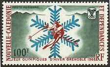 New Caledonia Stamp - 68 Winter Olympics Stamp - NH