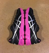 Asics Gt 1000 4 GS PR Size 7 US Kids Gel Black Silver Pink Ribbon Running Shoes