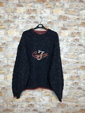 VINTAGE 90'S COSBY WINTER WARM WOOL THICK SPECKLE MENS CREW JUMPER LARGE #596