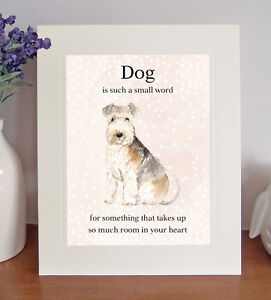 """Lakeland Terrier """"Dog is such a small word"""" 8x10 Picture/Print, Sentimental Gift"""