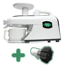 New 220 volt Tribest Green Star Elite Juicer GSE-5300 w/ Pasta Kit & Soft Fruit