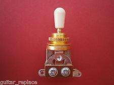 Selector Toggle Gold Tip Crema Switch Interruptor 3 Posiciones Guitarra Epiphone