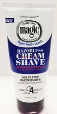 MAGIC RAZORLESS CREAM SHAVE REGULAR STRENGTH FOR NORMAL BEARDS 6oz