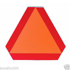 "Hy-Ko Sign Bright Orange 14"" X 16"" Slow Moving Vehicle Aluminum Emblem TA-1 NEW!"