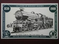 POSTCARD CASTLE CLASS LOCO 7029 CLUN CASTLE - 150 YRS OF RAILWAY HISTORY