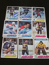 LOT OF 45 DIFFERENT AUTOGRAPHED 1977 TOPPS HOCKEY CARDS