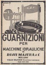 Z3536 Guarnizioni ROSSI MASERA - Pubblicità d'epoca - 1929 vintage advertising