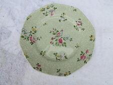 "Wessex Octogon Bird & Flowers  Plate  9 3/4"" Round"