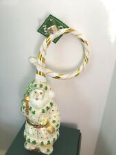 """Coiled Cain 2 Ring in Holidays"" 9"" Slavic Treasures #02-1128 Glass Ornament Nib"