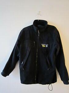 Mountain Hardwear Windproof Fleece Full Zip Hiking Walking Jacket Size S Black