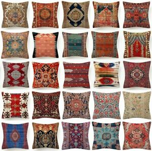 Throw PILLOW COVER Tapestry Kilim Rug Digital Print 2-Sided Cushion Case 18x18""
