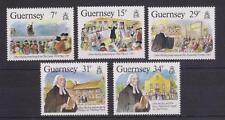 GUERNSEY 1987 JOHN WESLEY'S VISIT STAMP SET MNH SG 410-414