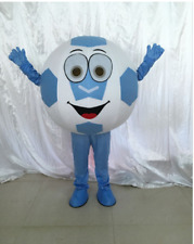 Blue Advertising Soccer Football Mascot Costume Suit Sporting Party Dress Funs
