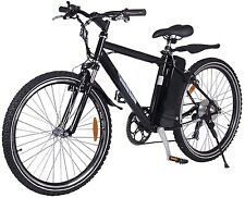 X-Treme Alpine Trails 24V Battery Powered Electric Mountain Bike Bicycle Black
