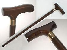 zerlegbarer Spazierstock aus Holz + Messing mit Geheimfach, Gehstock Wanderstock
