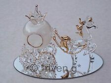 HORSE@Pumpkin Carriage@CINDERELLA Gift@Cake Topper@WEDDING@Table Decoration@GOLD