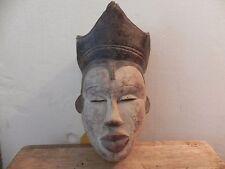 "Arts of Africa - Yoruba Mask - Nigeria - 12' Height x &"" Wide"