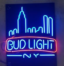 Echte Neonreklame Budlight New York Neon Sign Leuchtreklame Röhren Budweiser Bud