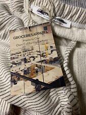 GROCERIES APPAREL~ BEIGE  STRIPED LOUNGE PANTS~ ORGANIC COTTON~ MEDIUM NEW USA