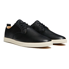 Clae Ellington Milled Tumbled Leather Shoes in Black RRP£95