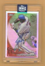 RYAN HOWARD 2020 TOPPS ARCHIVES AUTO AUTOGRAPH 2010 CHROME REFRACTOR #D 1/1 RARE