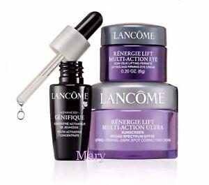 Lancome Advanced Genifique Serum,renergie Day Lift SPF30 & Eye Cream 3 Pc Set
