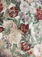 "Western Textiles Screen Print Soft Florals Vat Dyes Scotchgard  1 1/2 Yds  W 56"""