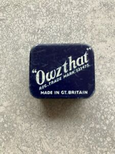 """Vintage """"Owzthat"""" Cricket Game with rules/instructions  c1950s"""