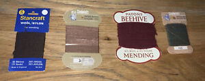 4 x Vintage Chadwick's Stancraft Patons wool/nylon reinforcing &  mending thread