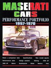 MASERATI coches Performance Portfolio 1957-1970 (Brooklands Books ROAD Tests