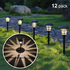12 Pack Solar Pathway Lights Outdoor Solar Garden Lights for Patio Yard Driveway