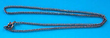 """5 x 16"""" black plated complete curb necklace chains, ideal for pendants"""
