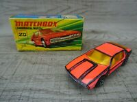 Vintage Lesney 1969 Lamborghini No 20 Matchbox Superfast Diecast Toy Car Boxed