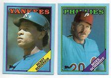 1988 Topps Baseball Box Bottom Lot 14 Assorted 13 Diff NM Ryan Henderson