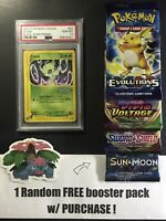 PSA 10 GEM MINT Celebi # 50 Black Star Promo Pokemon Card w/ FREE BOOSTER PACK