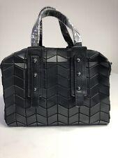 Patrizia Luca Black Mini Chevron Satchel With Removable Strap Handbag Geo