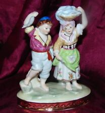 Royal Vienna Fine Porcelain Children Doing Chores Fishing Laundry Figurine