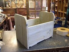Rustic wooden new born bed photo prop in whitewash finish