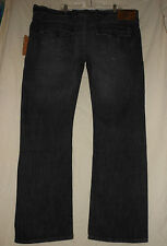 TRUE RELIGION Men's 46 NWT Black Gray Ricky Straight Leg Jeans W46 M08859TGL5