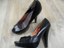 MADDEN Girl stylische High Heels Peeptoes schwarz Gr. 37 TOP  ZC118